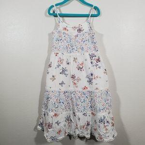 Gap Kids White Dress with Butterflies